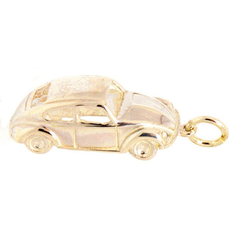 Gold Beetle Car Charm
