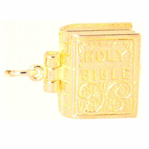 Gold Bible Charm