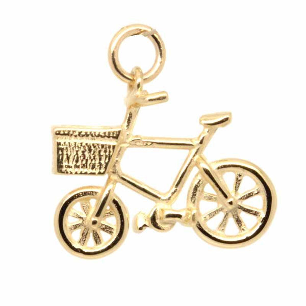 Gold Charm - Gold Bicycle Charm