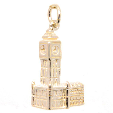 Gold Big Ben and Houses of Parliament Charm