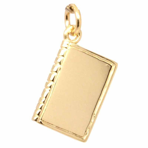 Gold Book Charm