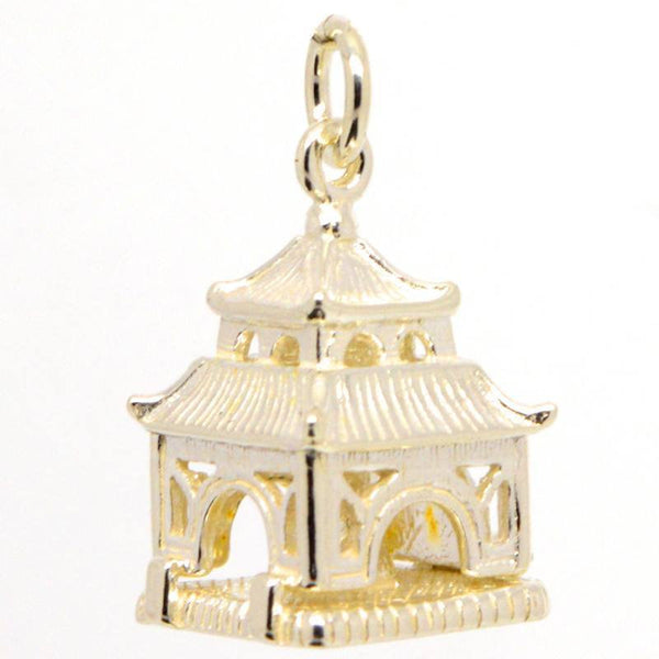 Gold Buddha in Pagoda Charm - Perfectcharm - 2