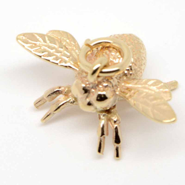 Gold Bumble Bee Charm - Perfectcharm - 1