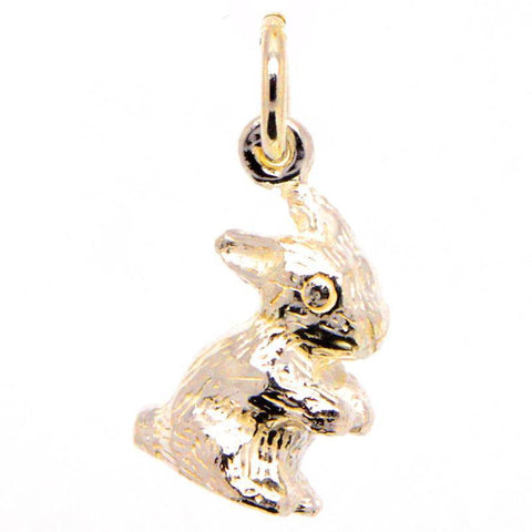 Gold Bunny Rabbit Charm
