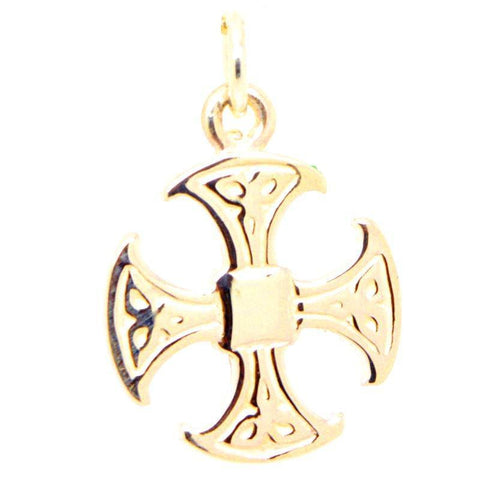 Gold Canterbury Cross Charm