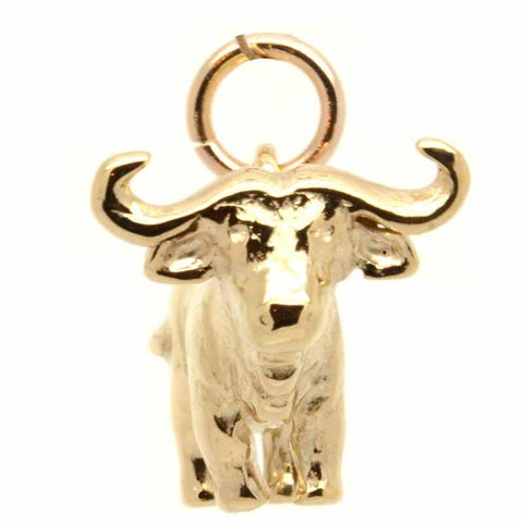 Gold Cape or African Buffalo Charm