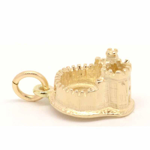 Gold Charm - Gold Cardiff Castle Charm
