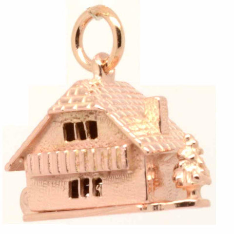 Gold Chalet Cottage Charm with Tree