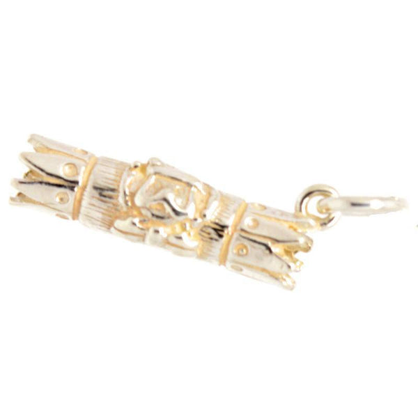 Gold Christmas Cracker Charm - Perfectcharm - 2