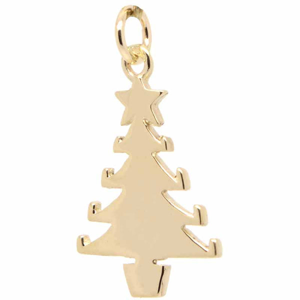 Gold Christmas Tree Charm - Perfectcharm - 1