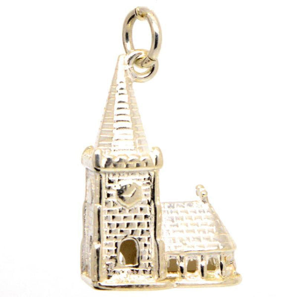 Gold Church With Steeple - Perfectcharm - 2