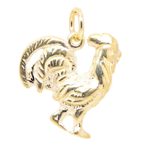 Gold Cockerel Charm