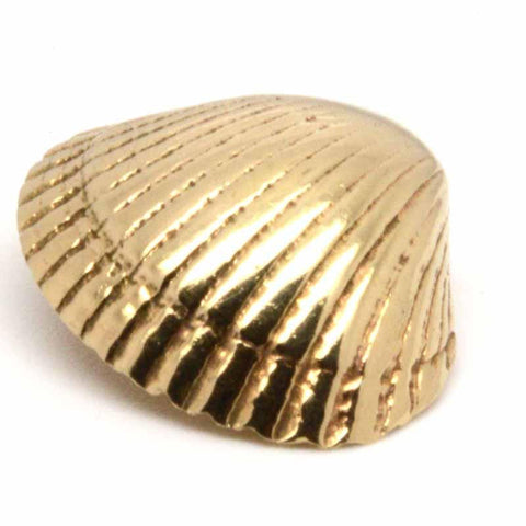 Gold Cockle Shell Charm