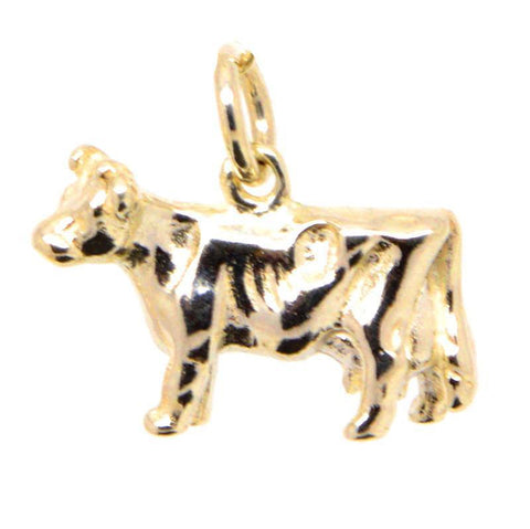 Gold Cow Charm