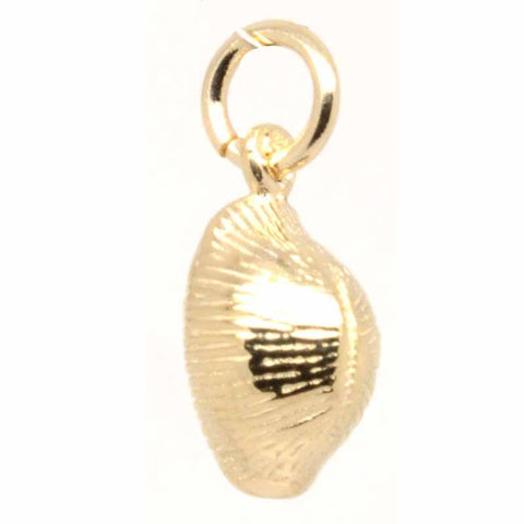 Gold Cowrie Shell Charm