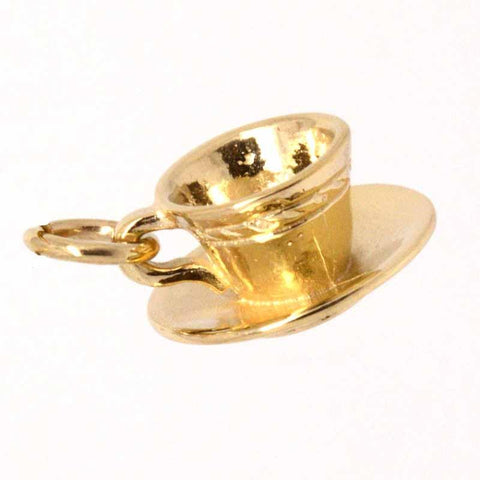 Gold Cup and Saucer Charm