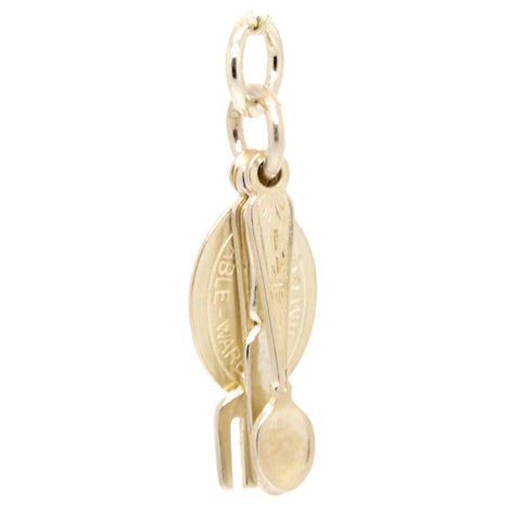Gold Cutlery Charm