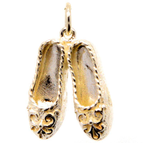 Gold Dancing Slippers Charm
