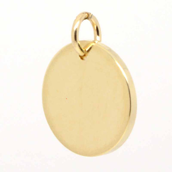 Gold Disc Tag Charm - Perfectcharm - 1