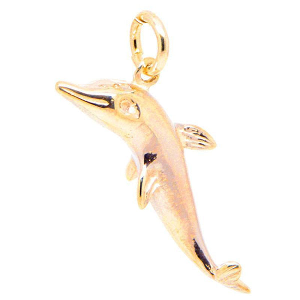 Gold Dolphin Charm - Perfectcharm - 2