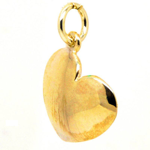 Gold Domed Heart Charm