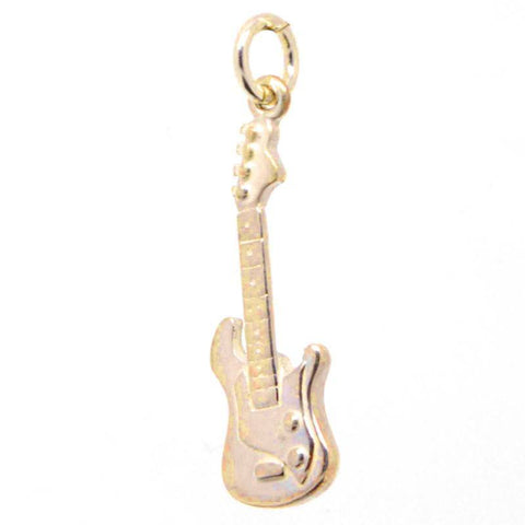 Gold Electric Guitar Charm