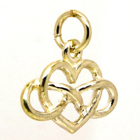 Gold Eternal Heart Infinity Charm