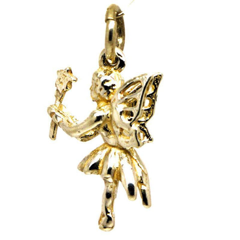 Gold Fairy with Wand Charm