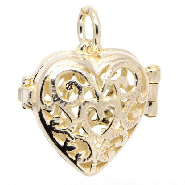 Gold Filigree Heart Charm - Perfectcharm - 1