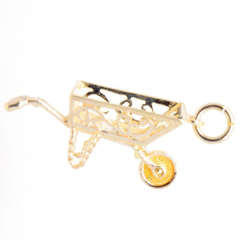 Gold Filigree wheelbarrow Charm