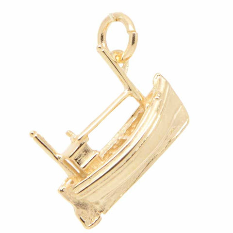 Gold Fishing Boat Charm