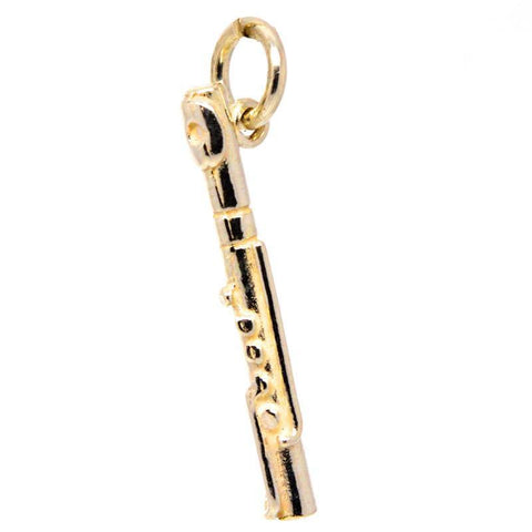 Gold Flute Charm