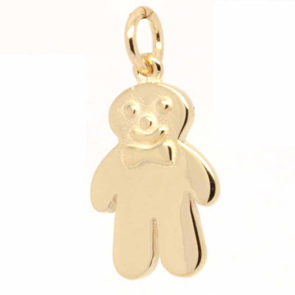 Gold Charm - Gold Gingerbread Man Biscuit Charm