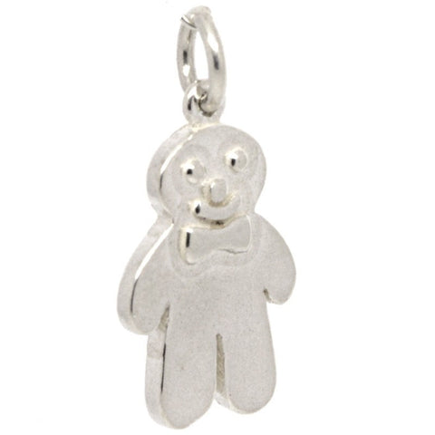 Gold Gingerbread Man Biscuit Charm