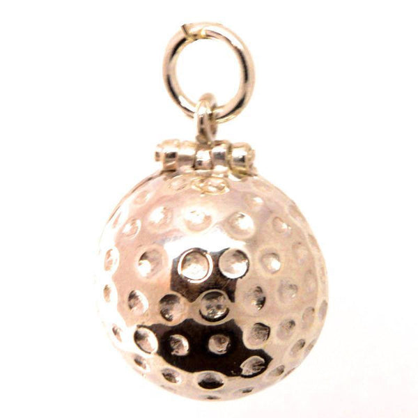 Gold Golf Ball Charm - Perfectcharm - 1
