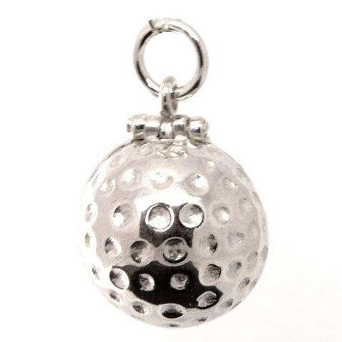 Gold Golf Ball Charm