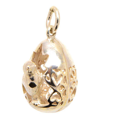 Gold Hatching Egg Charm