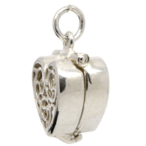 Gold Heart-Shaped-Ring Box charm