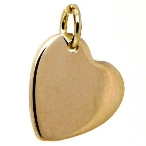 Gold Heart Tag Charm - Perfectcharm - 1