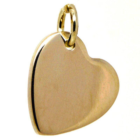 Gold Heart Tag Charm