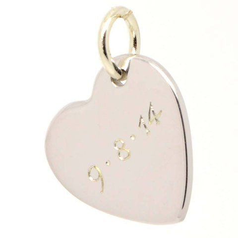 Gold Heart Tag Charm Yellow Heart