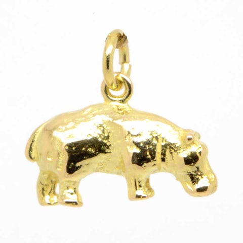 Gold Hippo Charm