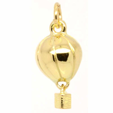 Gold Hot Air Balloon Charm