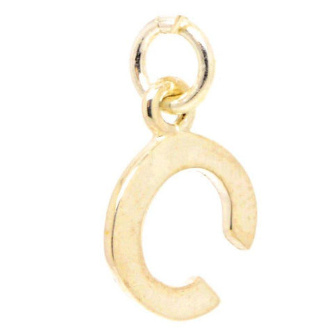 Gold Initial letter C Charm