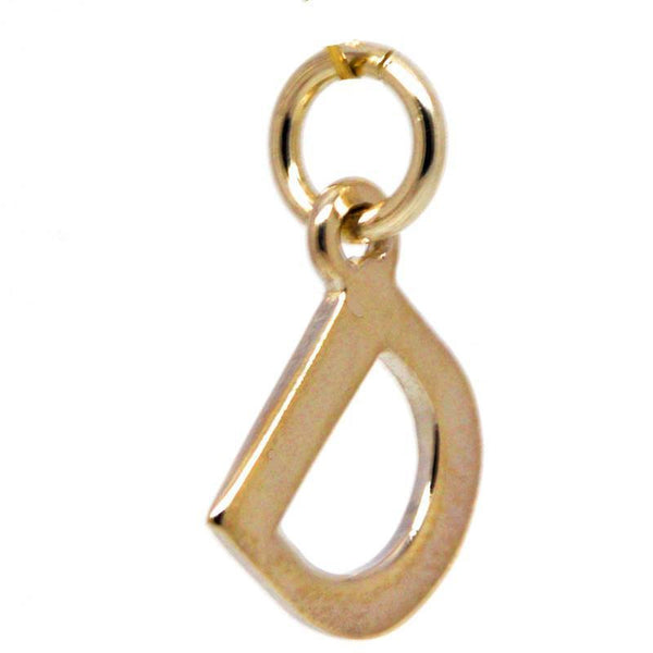 Gold Initial letter D Charm - Perfectcharm - 1