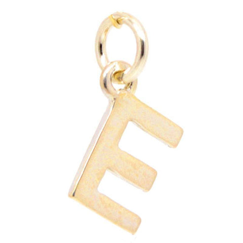 Gold Initial letter E Charm