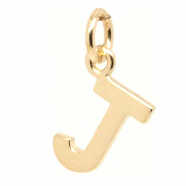 Gold Charm - Gold Initial Letter J Charm