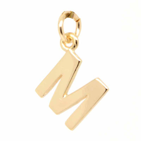 Gold Initial letter M Charm