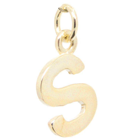Gold Initial letter S Charm