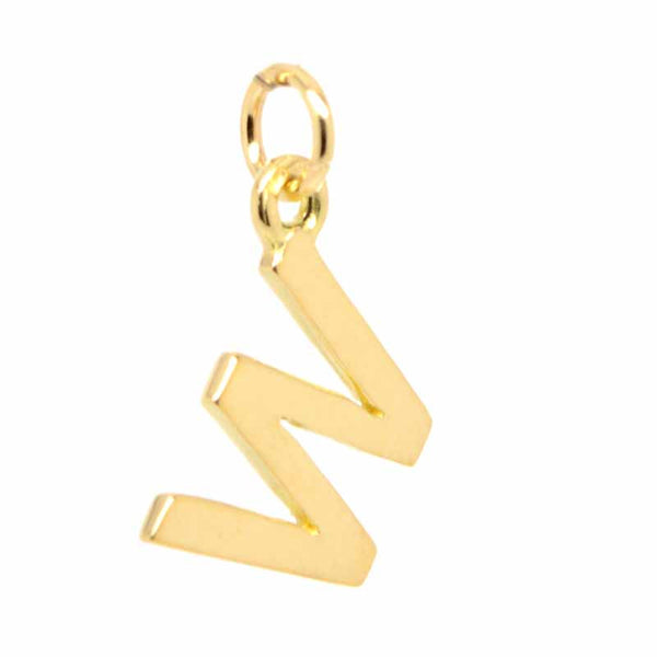 Gold Initial letter W Charm - Perfectcharm - 1